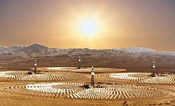 Artist's concept of Mildura's large scale solar project
