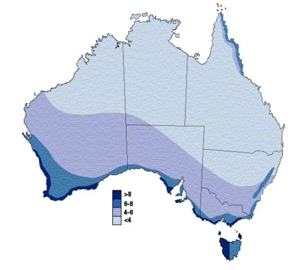 wind map australia
