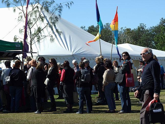 byron bay writers festival crowd